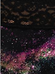 Galaxy Second Skin Thong Panty, BRIGHT GALAXY- BLACK, alternate