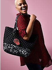 Betsey Johnson Black Tattoo Tote Bag, , alternate