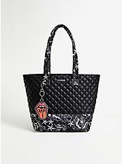 Betsey Johnson Black Tattoo Tote Bag, , hi-res