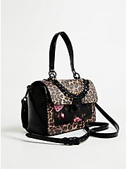 Betsey Johnson Leopard Satchel Bag, , alternate