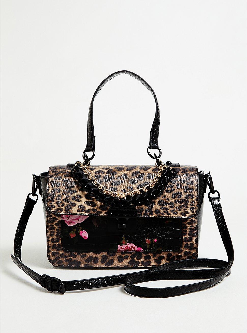 Betsey Johnson Leopard Satchel Bag, , hi-res