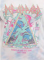 Def Leppard Multi Tie-Dye Terry Off Shoulder Sweatshirt, MULTI, alternate