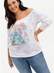 Def Leppard Multi Tie-Dye Terry Off Shoulder Sweatshirt, MULTI, hi-res