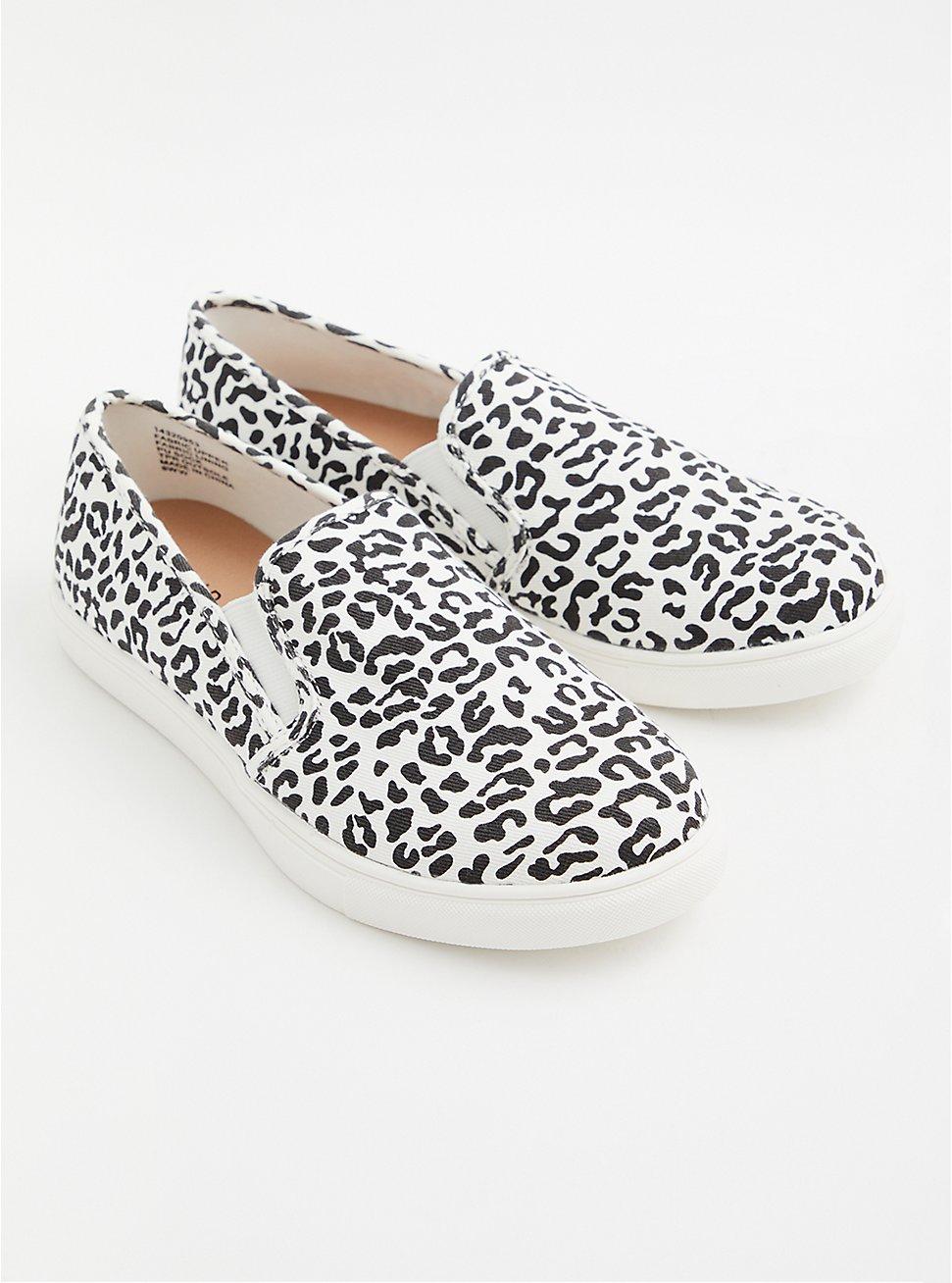 Leopard Print Slip-On Sneaker (WW), ANIMAL, hi-res