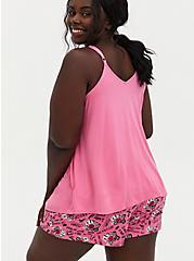 Plus Size Mean Girls Burn Book Pink Jersey Sleep Tank, PINK, alternate