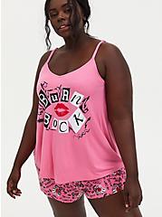 Plus Size Mean Girls Burn Book Pink Jersey Sleep Tank, PINK, hi-res