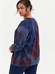 Good Times Burgundy Purple & Navy Tie-Dye Fleece Sweatshirt, WINETASTING, alternate