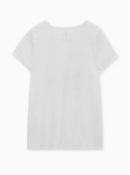 Classic Fit Ringer Tee - Elton John White, MARSHMALLOW, alternate