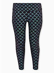 Black Mermaid Wicking Active Legging With Pockets, MERMAID WATERS, hi-res