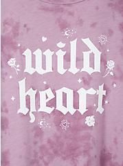 Plus Size Wild Heart Clasic Fit Crew Tee - Triblend Tie-Dye Lavender Purple , LAVENDER, alternate