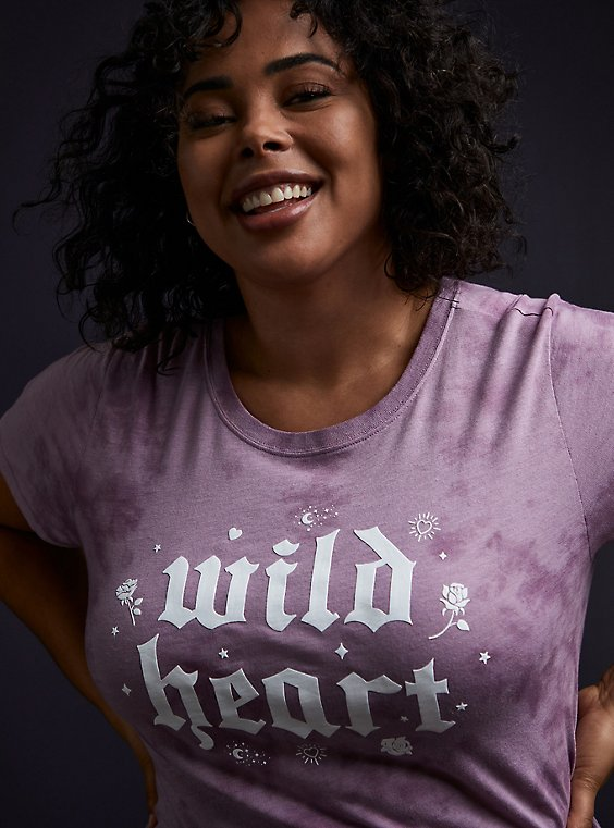 Wild Heart Clasic Fit Crew Tee - Triblend Tie-Dye Lavender Purple , , hi-res