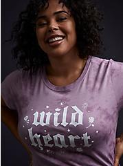 Wild Heart Clasic Fit Crew Tee - Triblend Tie-Dye Lavender Purple , LAVENDER, hi-res