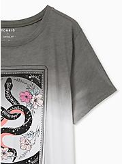 Plus Size Snake Card Slim Fit Crew Tee - Triblend Dip-Dye Grey , DEEP DEPTHS, alternate