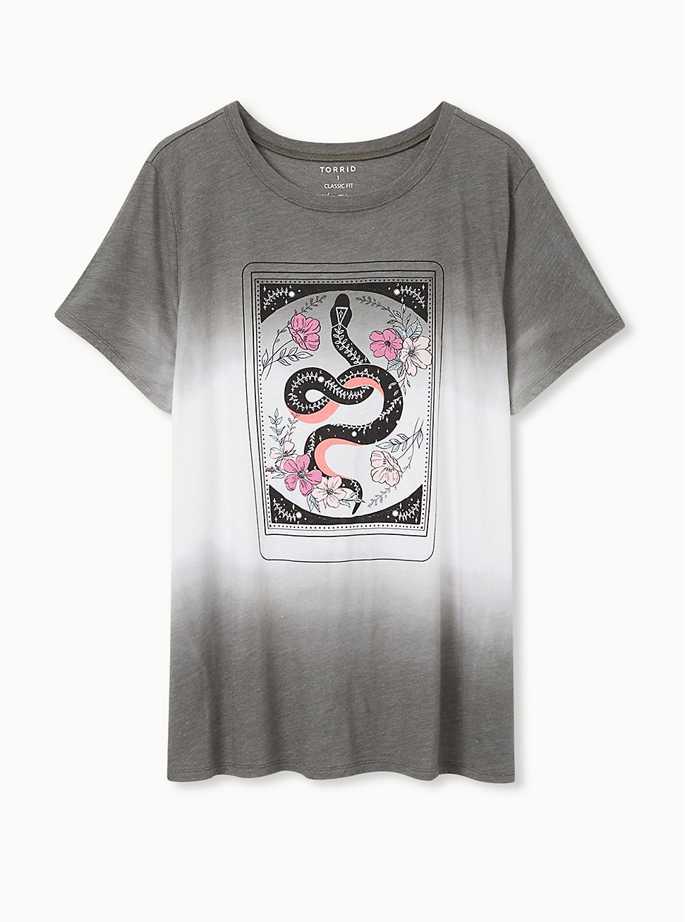 Plus Size Snake Card Slim Fit Crew Tee - Triblend Dip-Dye Grey , DEEP DEPTHS, hi-res