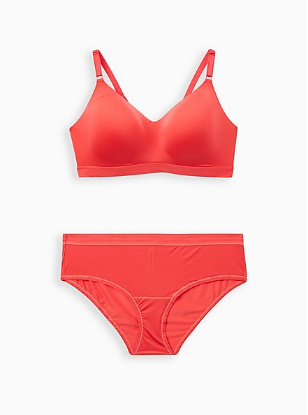 Bright Berry 360° Back Smoothing™ Lightly Lined Longline Wire-Free Bra, TEA BERRY, alternate