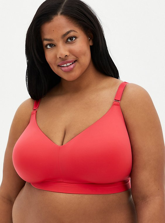 Bright Berry 360° Back Smoothing™ Lightly Lined Longline Wire-Free Bra, TEA BERRY, hi-res