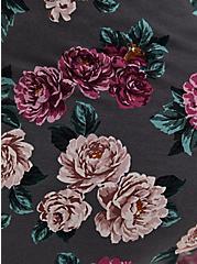 Super Soft Black Floral Sleep Babydoll Cami, MULTI, alternate