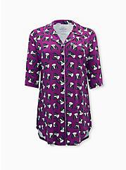 Super Soft Berry Pink French Sleep Tunic Shirt, MULTI, hi-res