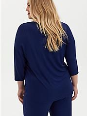 Navy Rib Dolman Sleep Tee, NAVY, alternate