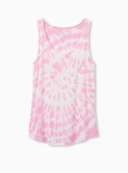 Super Soft Rib Pink Tie-Dye Sleep Tank, MULTI, hi-res