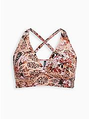 Multi Medallion Print Wireless Bikini Top, MULTI, hi-res