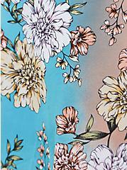Peach Floral Tie-Front Underwire Swim Top, MULTI, alternate