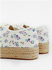 Ivory Floral Canvas Espadrille Sneaker (WW), WHITE, alternate