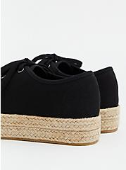 Black Canvas Espadrille Sneaker (WW), BLACK, alternate