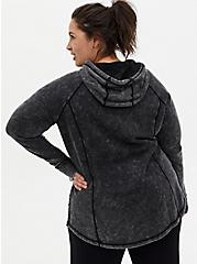 Black Washed Active Tunic Sweatshirt, BLACK, alternate