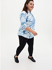 Blue Tie-Dye Active Tunic Sweatshirt, TIE DYE, alternate