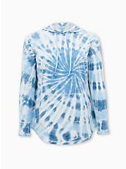 Blue Tie-Dye Active Tunic Sweatshirt, TIE DYE, hi-res