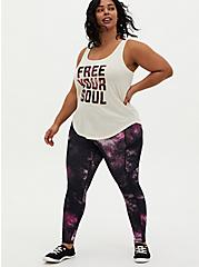 Black & Purple Galaxy Wicking Active Legging with Pockets, GALAXY - PINK, alternate