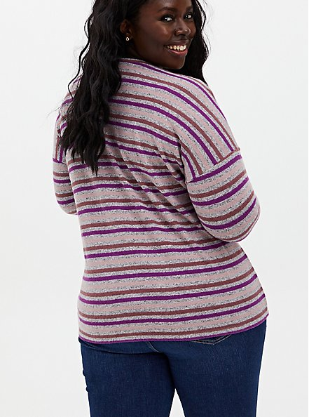 Long Sleeve Crew Tee - Super Soft Plush Stripe Multi , , alternate