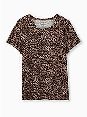 Relaxed Tee - Heritage Cotton Leopard, LEOPARD, hi-res
