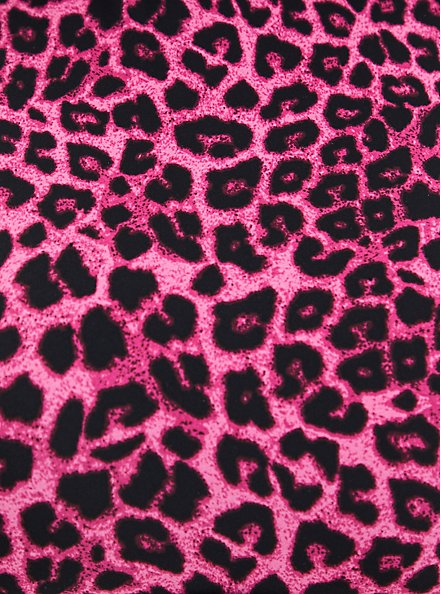 Pink Leopard Crop Active Swim Legging, DEEP BLACK, alternate