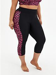 Pink Leopard Crop Active Swim Legging, , fitModel1-hires
