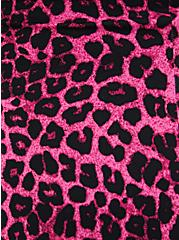 Pink Leopard Ruffle Trim One-Piece Swimsuit, MULTI, alternate