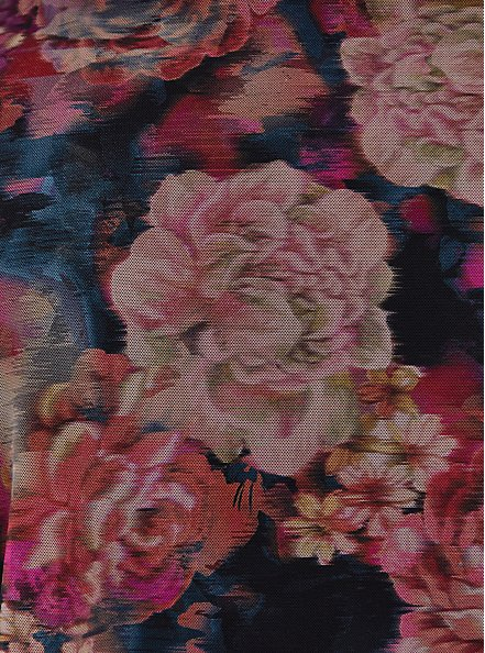 Multi Rose Floral Peplum Underwire One-Piece Swimsuit, MULTI, alternate