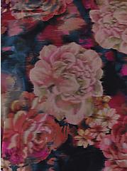 Plus Size Multi Rose Floral Peplum Underwire One-Piece Swimsuit, MULTI, alternate