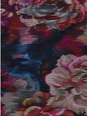 Rose Floral Active Swim Bike Short, MULTI, alternate