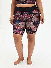 Rose Floral Active Swim Bike Short, MULTI, hi-res