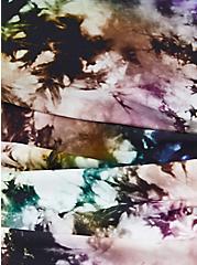 Black Tie-Dye Asymmetrical Tie Swim Dress, MULTI, alternate