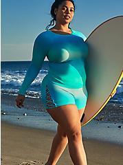 Aqua Gradient Active Swim Rash Guard, MULTI, hi-res