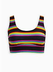 Striped Scoop Neck Swim Top , MULTI, hi-res