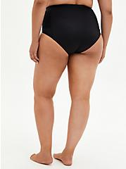 Black Crochet Detail Swim Botton, DEEP BLACK, alternate