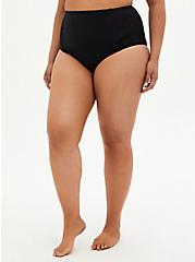 Black Crochet Detail Swim Botton, DEEP BLACK, hi-res