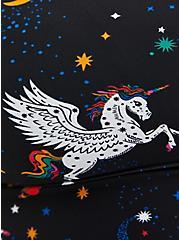 Black Pegasus Print Scoop Swim Top , MULTI, alternate