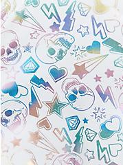 Rainbow Skulls V-Flounce Bikini Top , MULTI, alternate