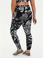 Black & White Marble Wicking Active Legging With Pockets, OTHER PRINTS, alternate