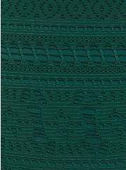 Olive Crochet High Neck One-Piece, OLIVE, alternate
